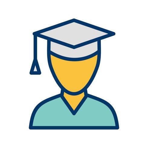 Vector mannelijke student pictogram