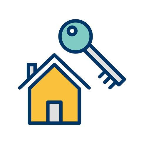 Huis sleutel vector pictogram