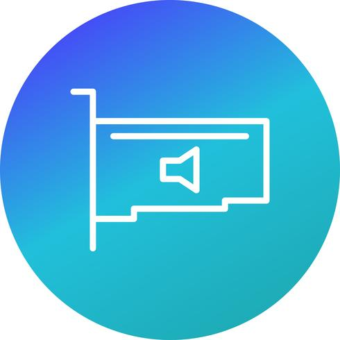 ikon för ljudkortsvektor
