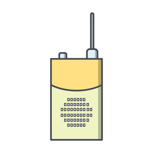 Icona di vettore del walkie-talkie
