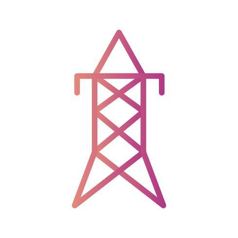 Icono de Vector de torre eléctrica