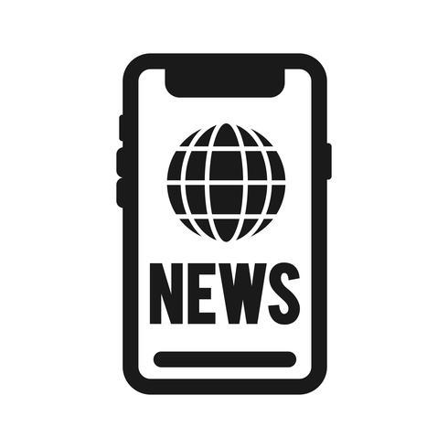Vector nieuws pictogram