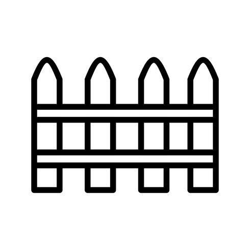 Staket vektor ikon