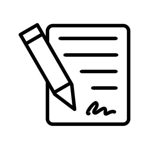 Icona di vettore del contratto