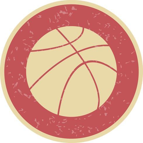 Icône de ballon de basket de vecteur
