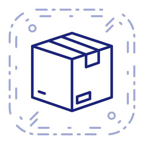 Vector icono de paquete