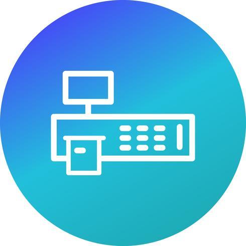 Icono de Vector de máquina de facturación