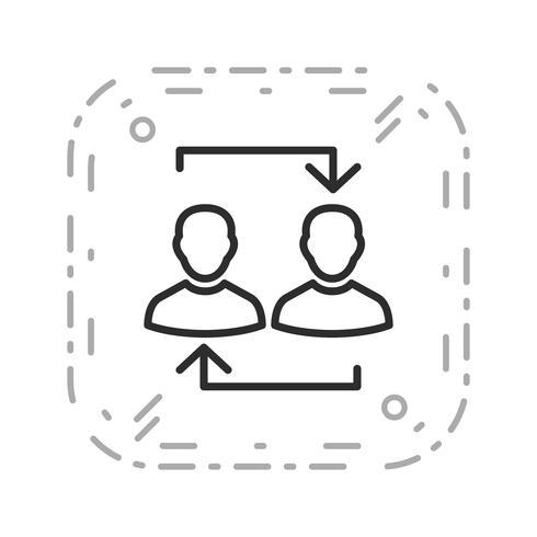 Austausch-Vektor-Symbol