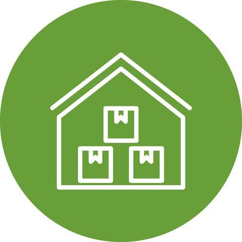 Storage Warehouse Vector Icon