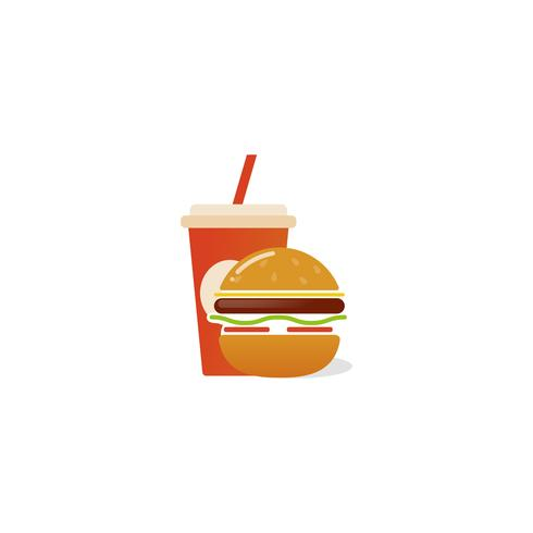 American classic burger house icon vector