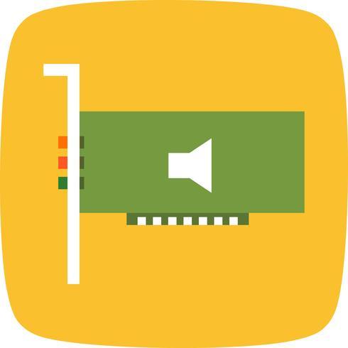 Icono de vector de tarjeta de audio