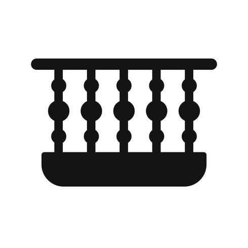 Icono de vector de balcón