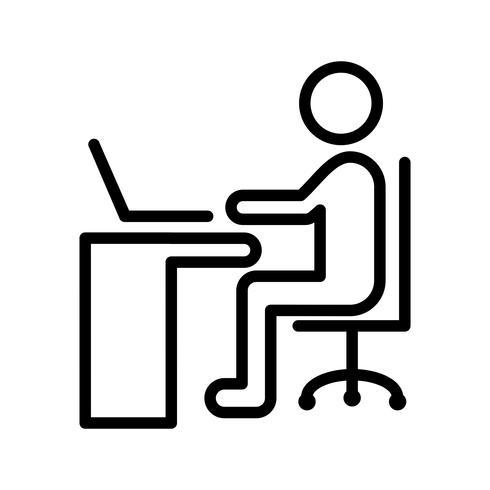 Vector à l'aide de l'icône de l'ordinateur portable