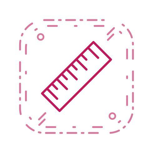 Linjal vektor ikon