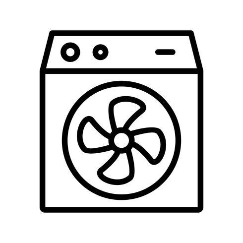 Ícone de vetor de quarto refrigerador