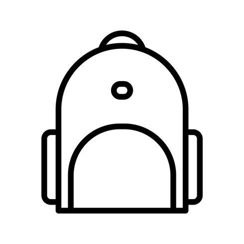 Vektor Bagpack Ikon