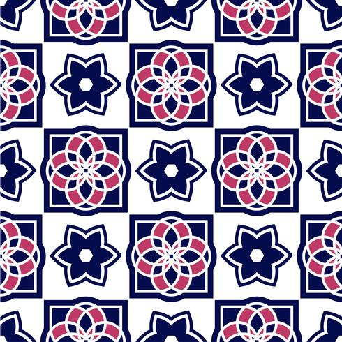 Portuguese azulejo tiles. Seamless patterns.  vector