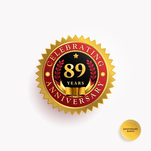 Years Anniversary Gold Badge