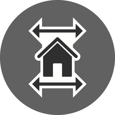 Onroerend goed blauwdruk Vector pictogram