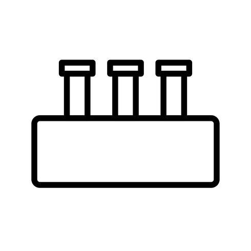 Vector set chimie icône