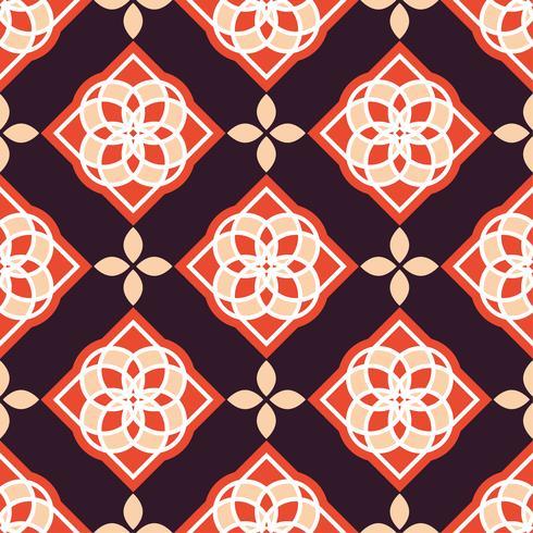 Piastrelle azulejo portoghesi. Modelli senza cuciture splendidi rossi e bianchi.
