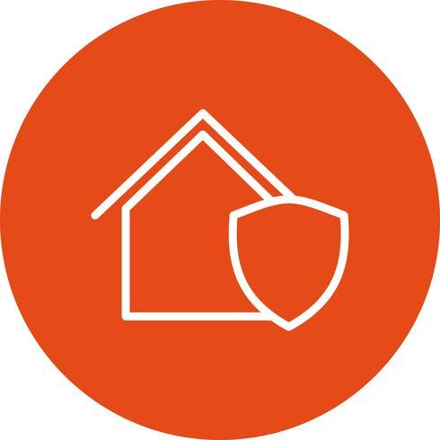 Icono de vector de casa protegida