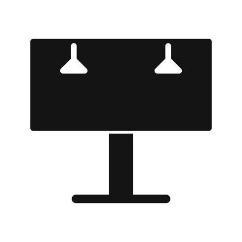 Icono de Vector de cartelera