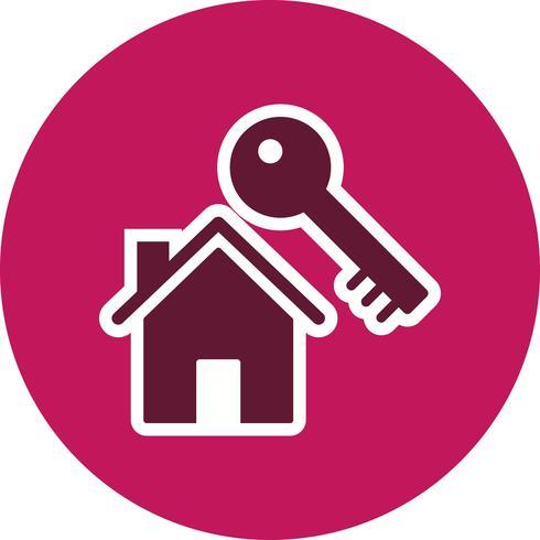 Hausschlüssel Vektor Icon