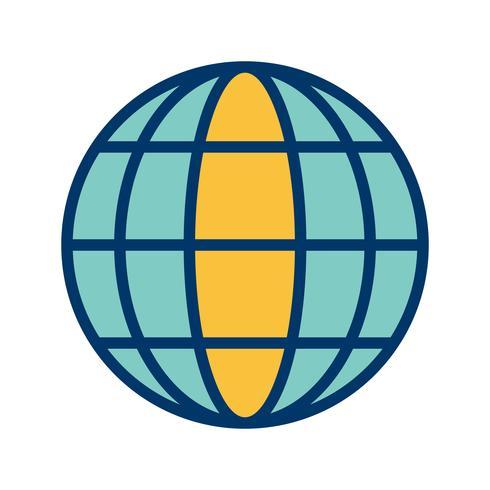 vektor globe ikon