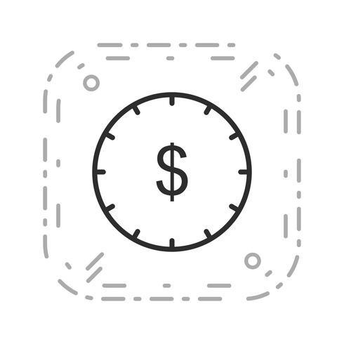Tid är pengar vektor ikon