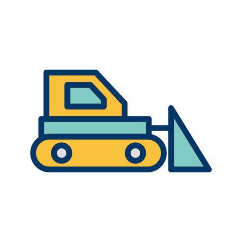 Bulldozer Vector icono