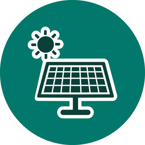 Icône de vecteur d'énergie solaire