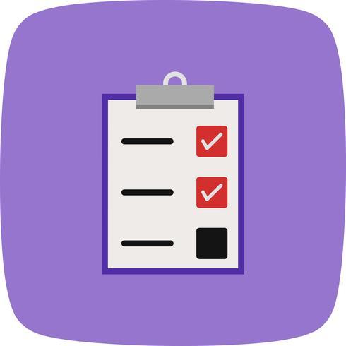 Icono de Vector de tarea