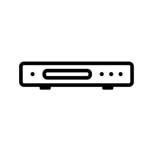 Dvd speler vector pictogram