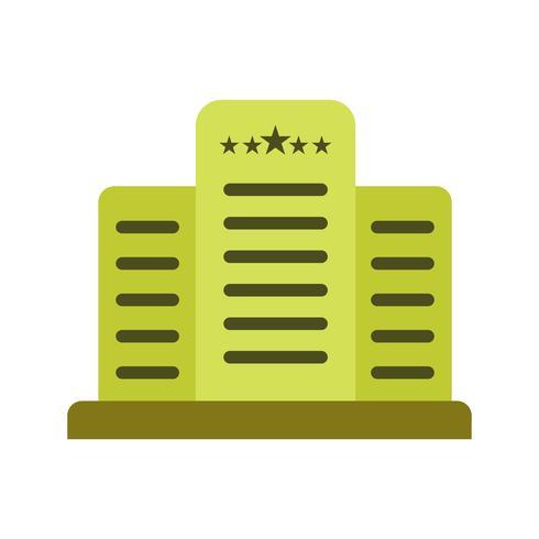 Icône de vecteur hôtel cinq étoiles