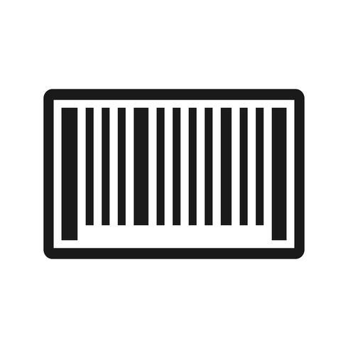 Icône de code à barres de vecteur