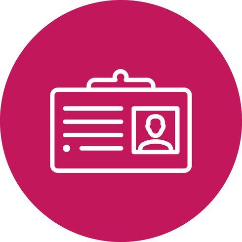 Ícone de vetor de cartão de visita