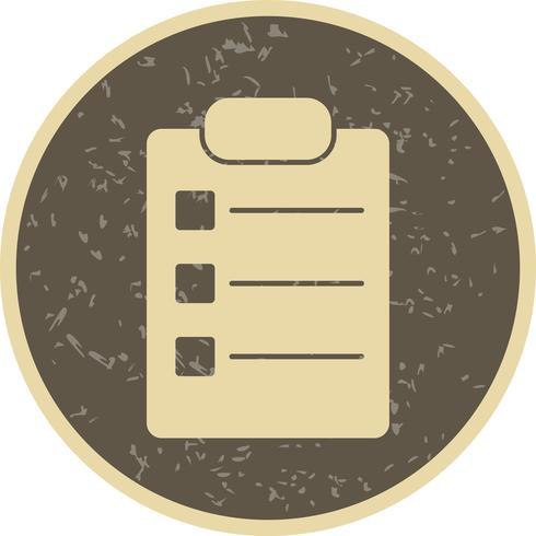 Vektor Liste Symbol