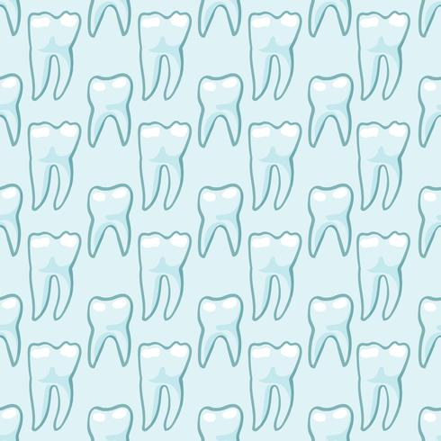 White teeth on blue background.
