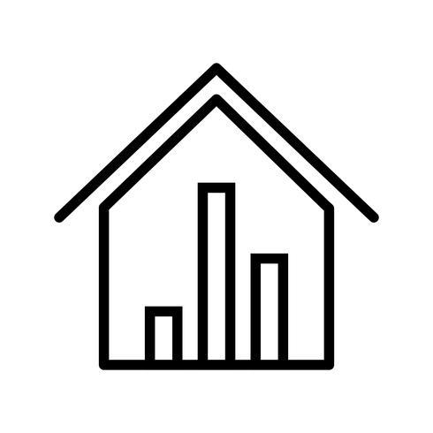 Ícone de vetor de estatísticas de imóveis