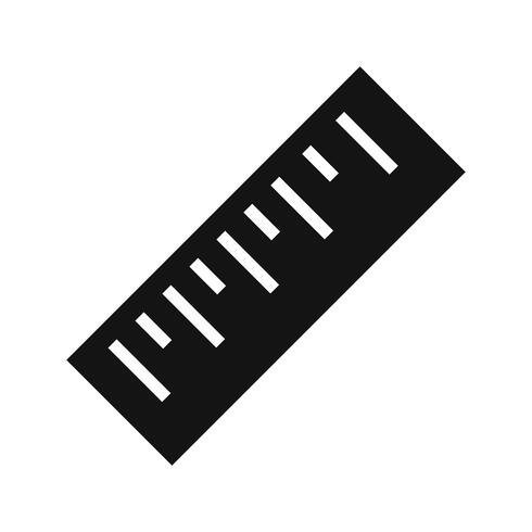 Icône de vecteur de règle