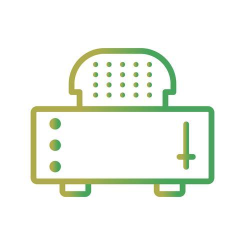 icône de vecteur de grille-pain tranche
