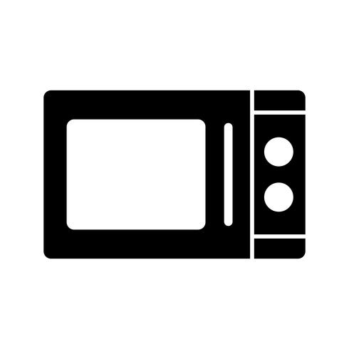 Icona di vettore del forno a microonde