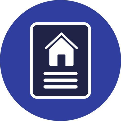 House Document Vector Icon