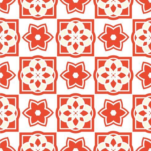 Portuguese azulejo tiles. Seamless patterns.  vector