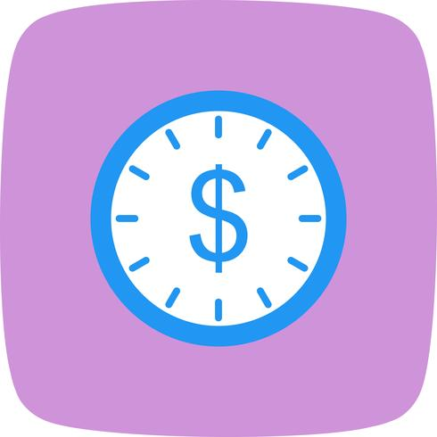 Time Is Money Vector Icon