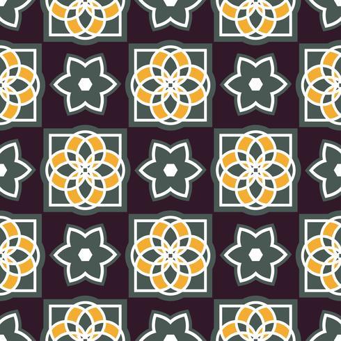 Azulejos de azulejo portugués. Patrones sin fisuras vector