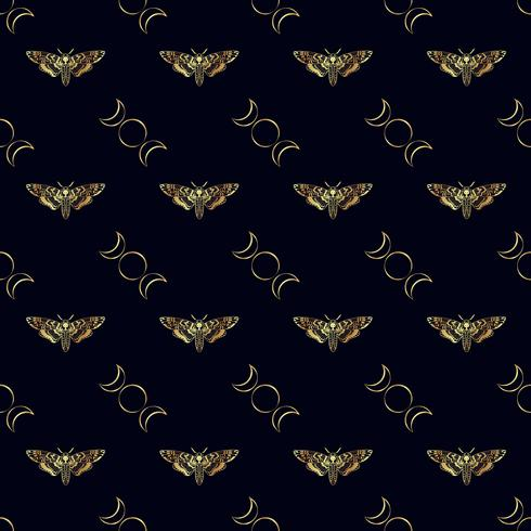 Farfalla testa Morte falena falena seamless pattern