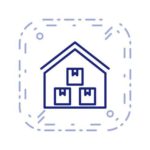 Icono de Vector de almacén de almacenamiento