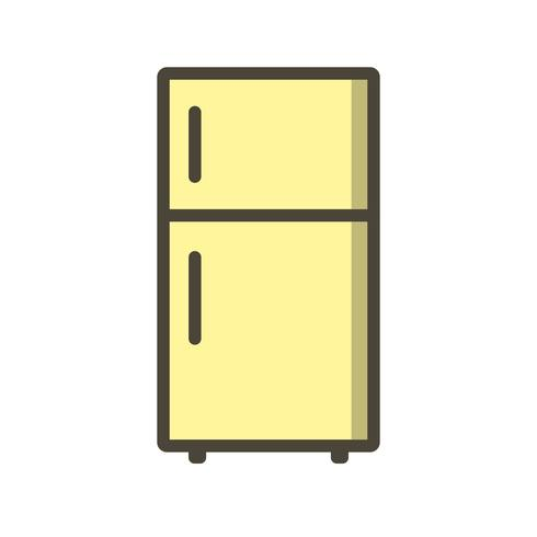 Ícone de vetor de geladeira